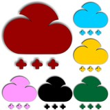 set of cloud icon