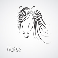a hand-painted horse symbol vector