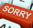 Sorry Key Shows Online Apology Or Regret