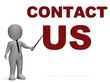 Contact Us Sign Means Helpdesk