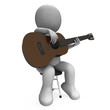 Acoustic Guitar Character Shows Guitarist Music And Performance