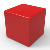 Blank Red Dice Shows Copyspace Cube Or Box