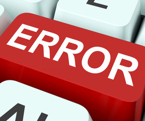 Error Key Shows Mistake Fault Or Defects