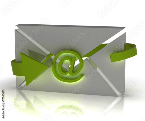 Envelope Sign Shows Internet Communication Message Online