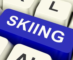Skiing Key Shows Ski or Skier.