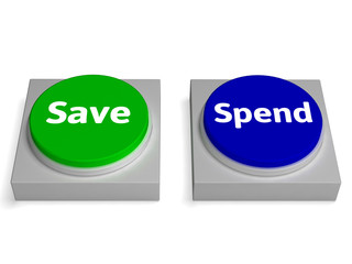 Save Spend Buttons Shows Saving Or Spending