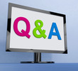 Q&a On Monitor Shows Questions And Answers Online