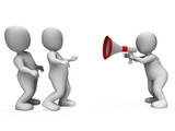 Megaphone Character Shows Motivation Leadership And Do It