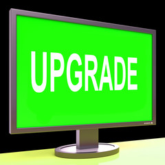 Upgrade Screen Means Improve Upgraded Or Update