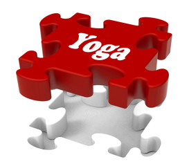 Yoga Puzzle Shows Enlightenment Meditate Meditation And Relaxati