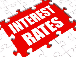 Interest Rate Puzzle Shows Investment Or Borrowing Percent