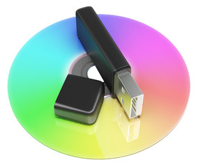 Usb And Dvd Storage Shows Portable Memory