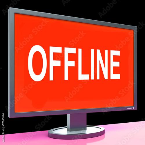 Offline Screen Shows Internet Communication Status Disconnected