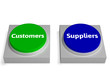 Customers Suppliers Buttons Shows Consumers Or Supplying