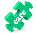 Care Puzzle Means Healthcare Careful Or Caring