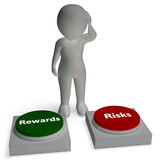 Risk Reward Buttons Shows Payoff