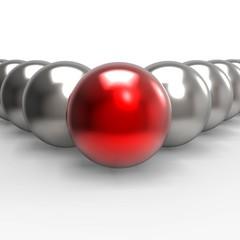 Leading Metallic Balls Shows Leadership