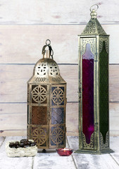 Glass and Bronze Lanterns