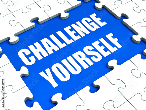 Challenge Yourself Puzzle Shows Motivation Goals And Determinati