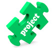 Project Puzzle Shows Planning Plan Or Task