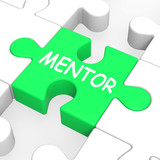 Mentor Puzzle Shows Mentoring Mentorship And Mentors