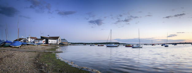 Dusk at Mudeford Quay