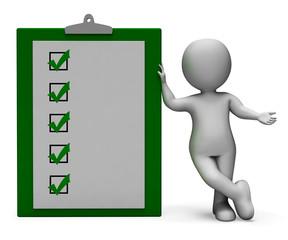 Checklist Clipboard Shows Test Or Survey