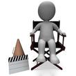 Film Director Character Shows Hollywood Directors Or Filmmaker