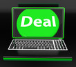 Deal Laptop Shows Contract Online Trade Deals Or Dealing
