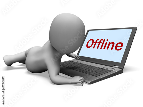 Offline Character Laptop Shows Www Communication Status Disconne