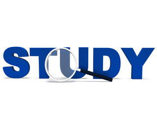 Study Word Shows Studying Student Or Education
