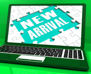 New Arrival Laptop Computer Shows Latest Products Announcement