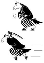 馬侍、モノクロ