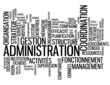 "Nuage de Tags ""ADMINISTRATION"" (gestion entreprise organisation)"