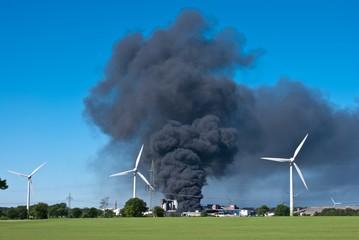 Großbrand im Industriegebiet