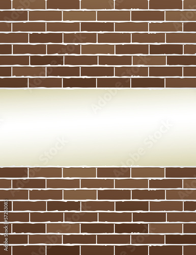 brown brick wall with place for text