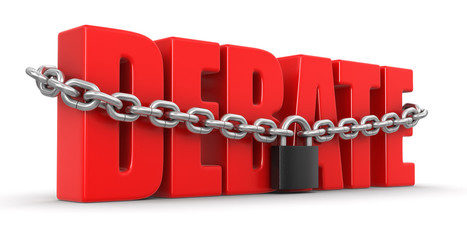 debate and lock (clipping path included)