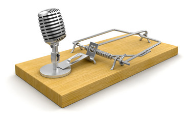 Mousetrap and Microphone (clipping path included)
