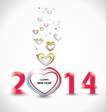 New year 2014. Abstract poster