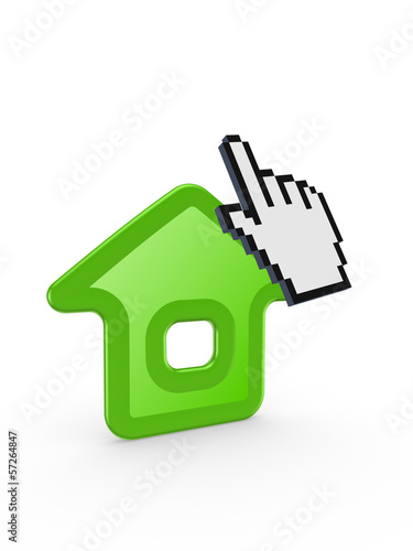 Cursor and home icon.