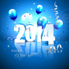 New Year 2014 greeting card