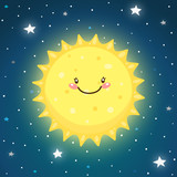 Cute Sun in space