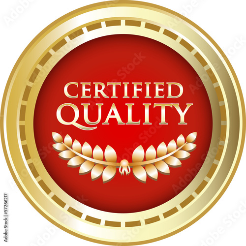 Certified Quality Red Vintage Label