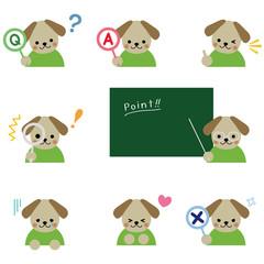 犬 アイコンセット /  Puppy icon set