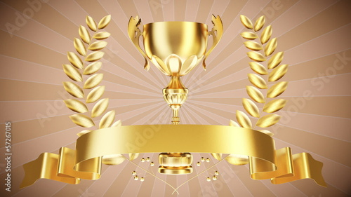 Gold cup with laurel wreath