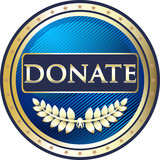 Donate Blue Vintage Label