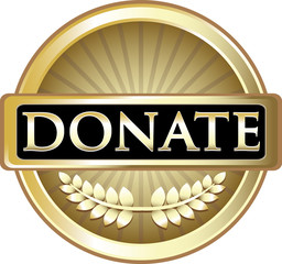 Donate Gold Vintage Label