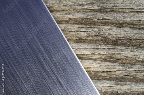 brushed metal wood background