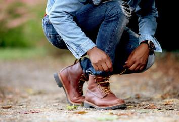 Schuhe binden