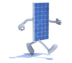 solar panel that running